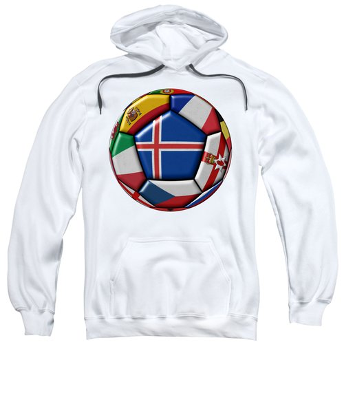 Soccer Ball With Flag Of Iceland In The Center Sweatshirt