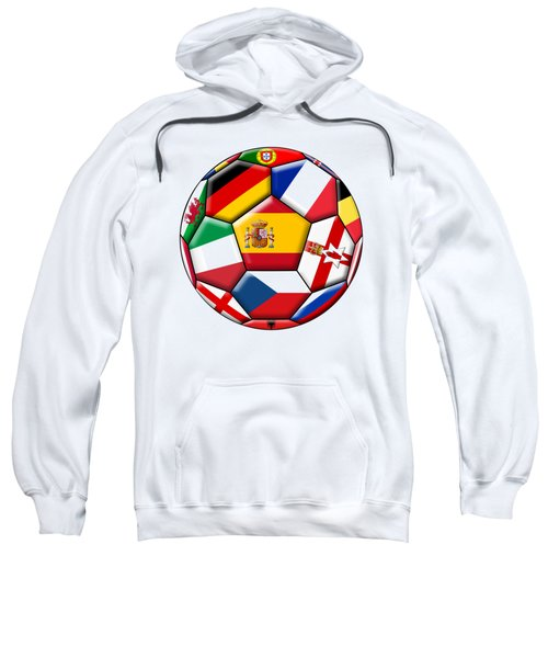 Soccer Ball With Flags - Flag Of Spain In The Center Sweatshirt