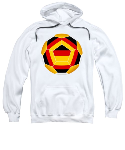 Soccer Ball With German Flag Sweatshirt
