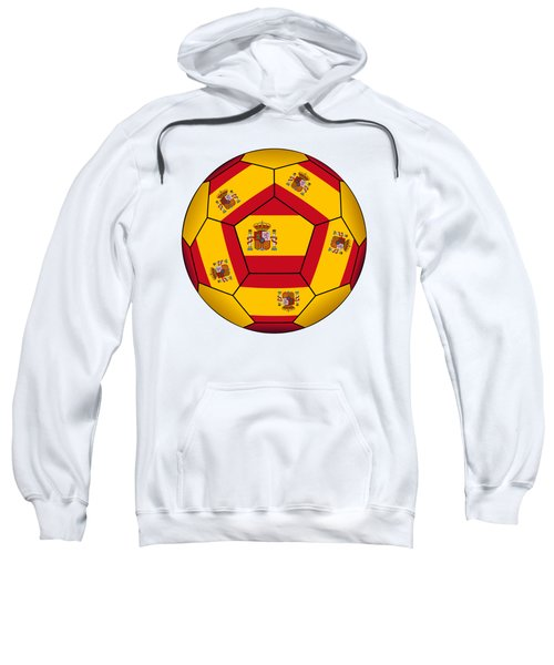 Soccer Ball With Spanish Flag Sweatshirt