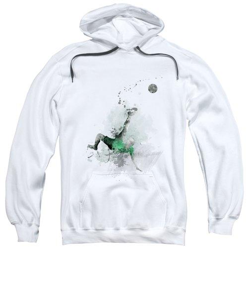 Soccer Player Sweatshirt by Marlene Watson