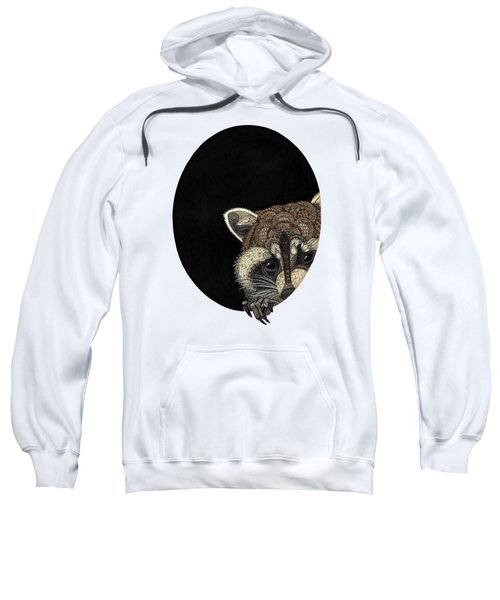 Socially Anxious Raccoon Sweatshirt by ZH Field