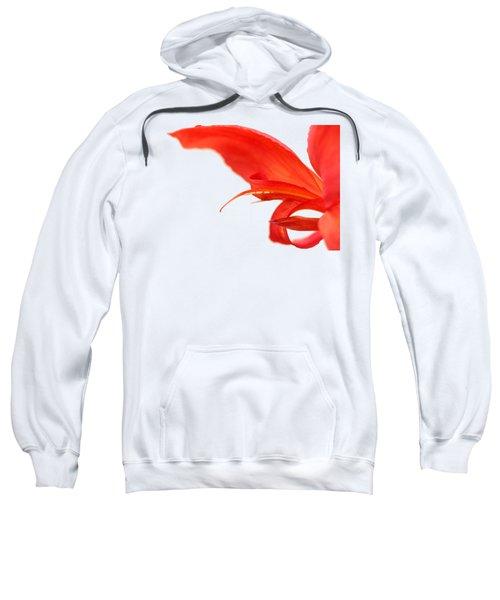 Softly Red Canna Lily Sweatshirt