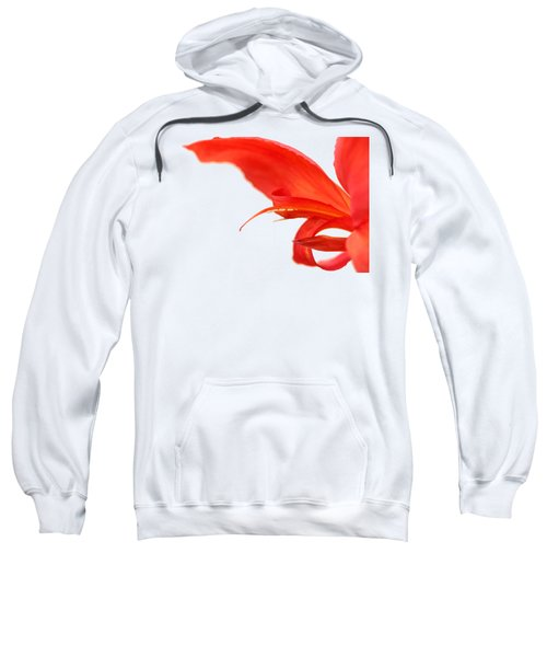 Softly Red Canna Lily Sweatshirt