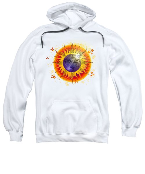 Solar Eclipse Moon Face Coloured Sweatshirt