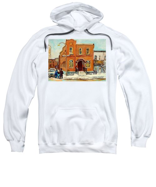 Solomons Temple Montreal Bagg Street Shul Sweatshirt