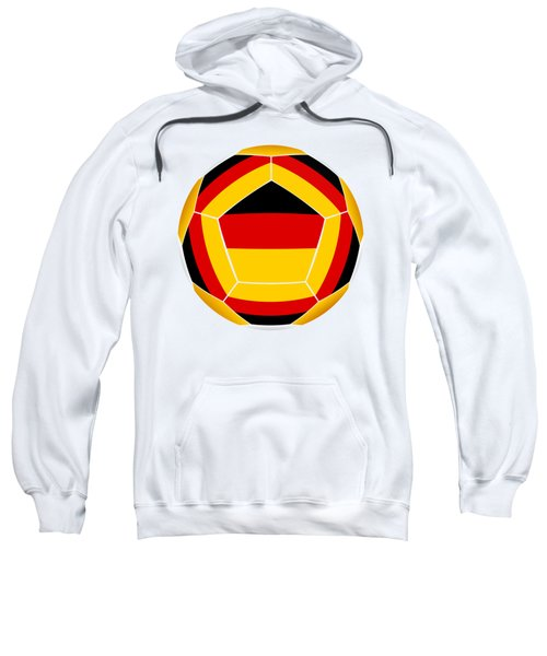 Soocer Ball With Germany Flag Sweatshirt