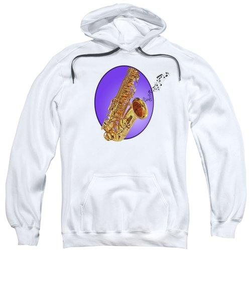 Sounds Of The Sax In Purple Sweatshirt