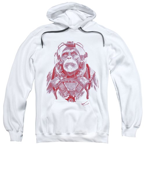 Space Chimp Sweatshirt by Kenny Noorlander