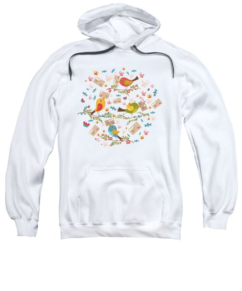 Special Springtime Delivery From Little Birds Pattern Sweatshirt