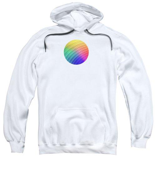 Spectrum Bomb Fruity Fresh Hdr Rainbow Colorful Experimental Pattern Sweatshirt