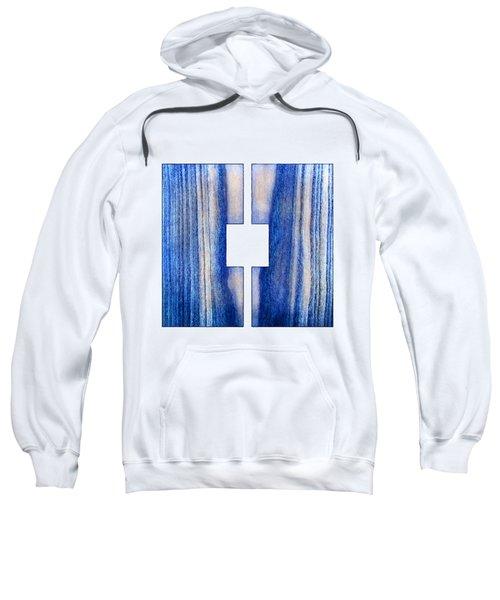 Split Square Blue Sweatshirt