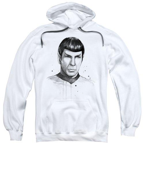 Spock Watercolor Portrait Sweatshirt
