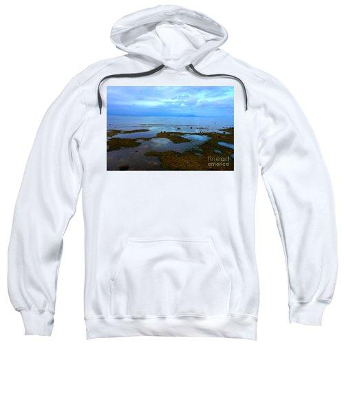 Spooky Morning Tide Receded From Beach Sweatshirt