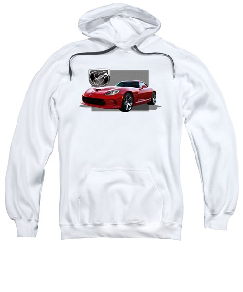 S R T  Viper With  3 D  Badge  Sweatshirt by Serge Averbukh