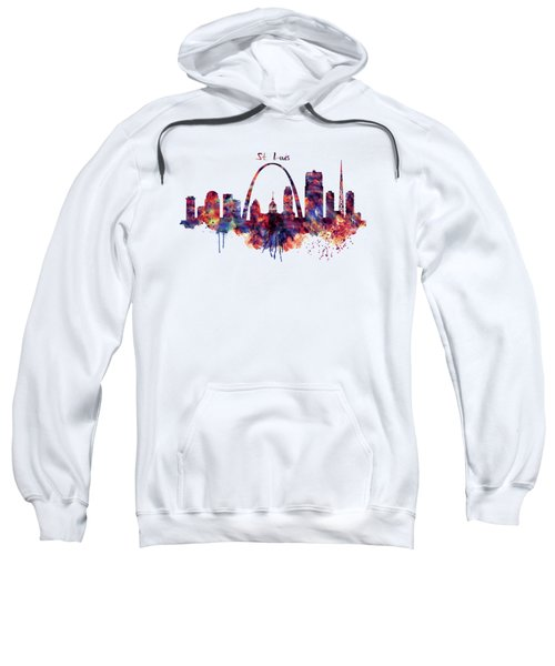 St Louis Skyline Sweatshirt by Marian Voicu