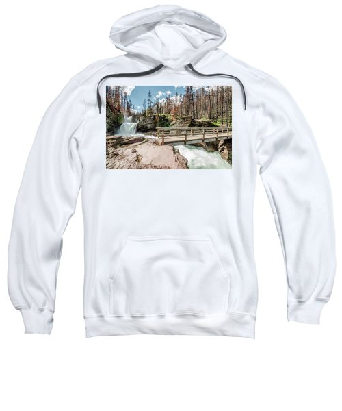 St. Mary Falls With Bridge Sweatshirt