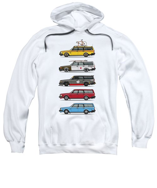 Stack Of Volvo 200 Series 245 Wagons Sweatshirt by Monkey Crisis On Mars