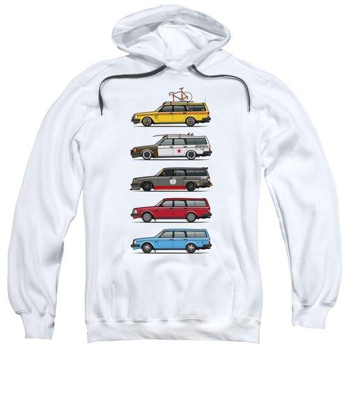 Stack Of Volvo 200 Series 245 Wagons Sweatshirt