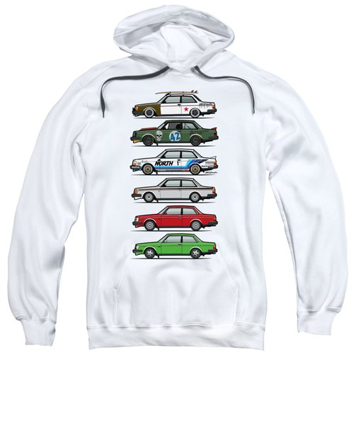 Stack Of Volvo 242 240 Series Brick Coupes Sweatshirt by Monkey Crisis On Mars