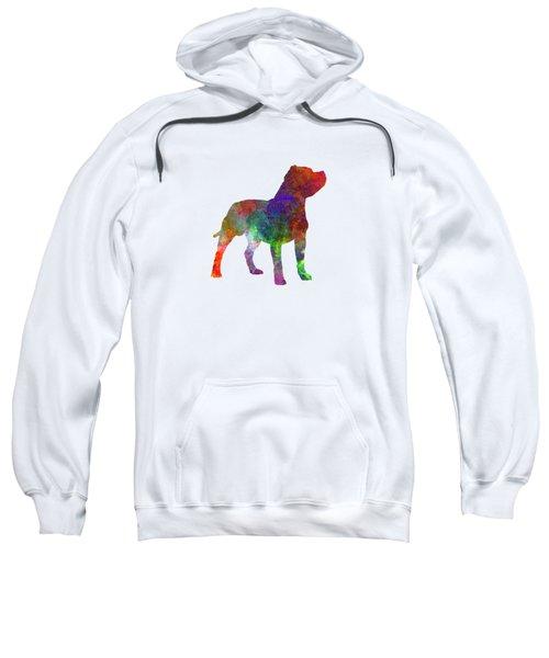 Staffordshire Bull Terrier In Watercolor Sweatshirt by Pablo Romero
