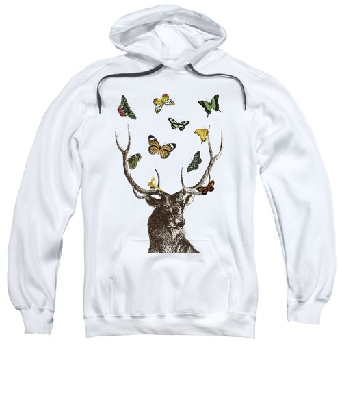 Stag And Butterflies Sweatshirt