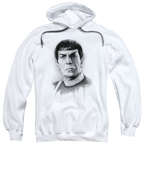 Star Trek Spock Portrait Sweatshirt by Olga Shvartsur