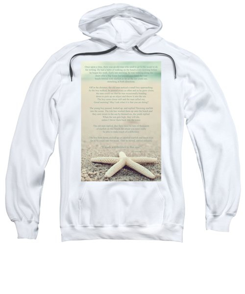 Starfish Make A Difference Vintage Set 1 Sweatshirt