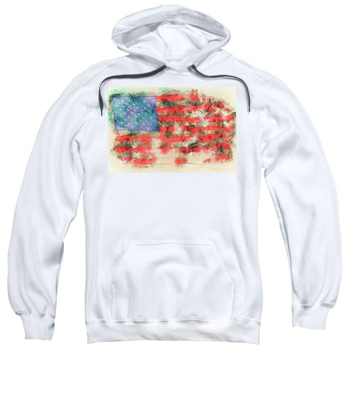 Stars And Stripes Watercolor Sweatshirt