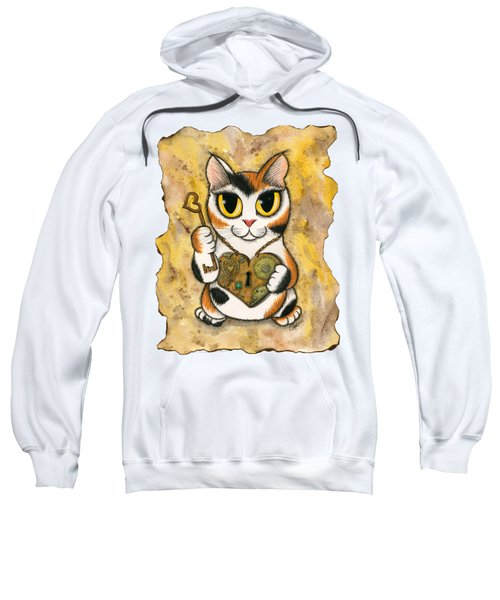 Steampunk Valentine Cat Sweatshirt