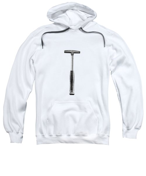 Steel Tack Hammer II On Plywood 74 In Bw Sweatshirt