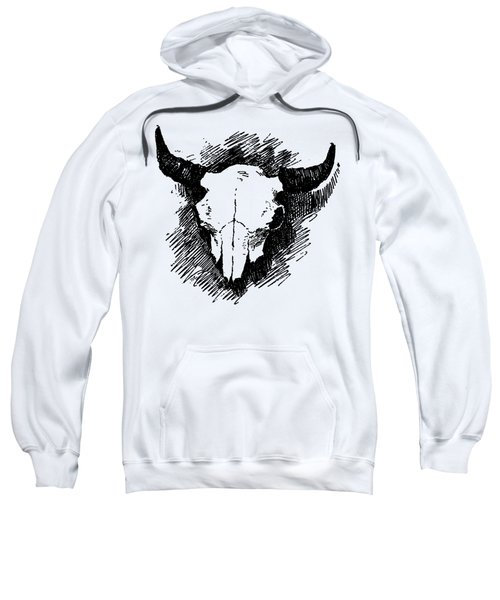 Steer Skull Tee Sweatshirt by Edward Fielding