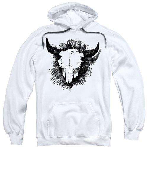Steer Skull Tee Sweatshirt