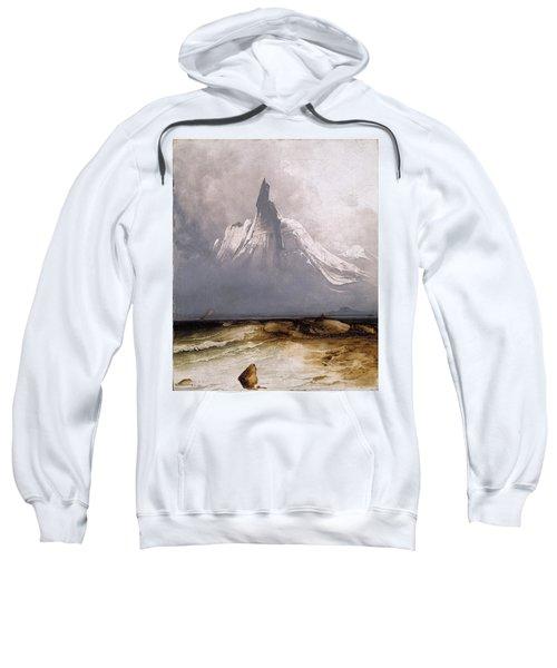 Sweatshirt featuring the painting Stetind In Fog by Peder Balke