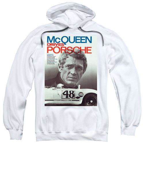 Steve Mcqueen Drives Porsche Sweatshirt