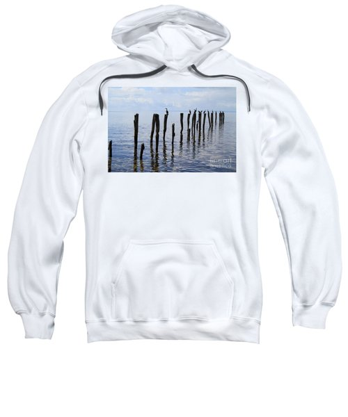 Sweatshirt featuring the photograph Sticks Out To Sea by Stephen Mitchell