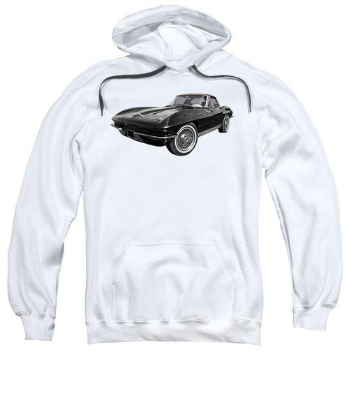 Stingray 1963 Split Window In Black And White Sweatshirt