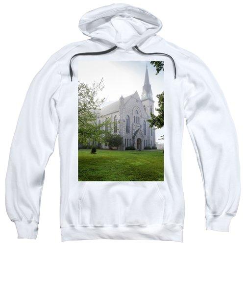 Stone Chapel In Fog Sweatshirt