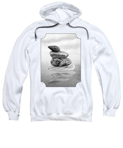 Stones In Water Black And White Sweatshirt