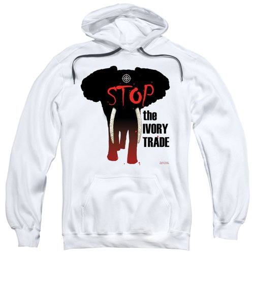 Stop The Ivory Trade Sweatshirt by Galen Hazelhofer