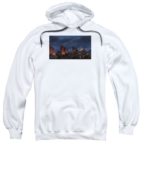 Storm In The Garden Of The Gods Sweatshirt
