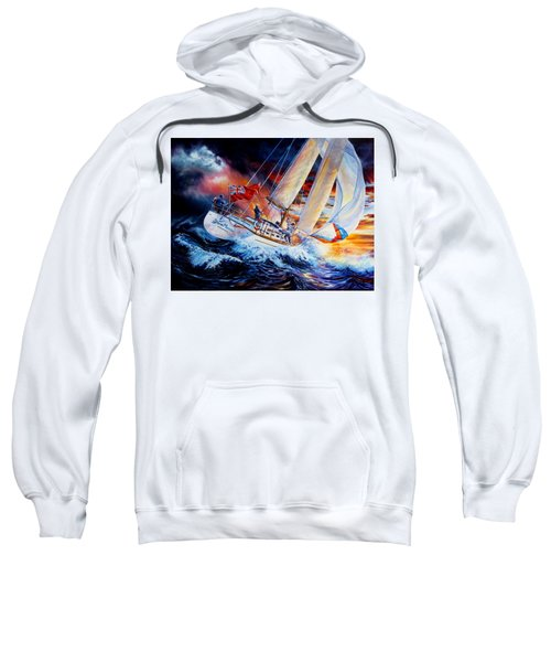 Sweatshirt featuring the painting Storm Meister by Hanne Lore Koehler