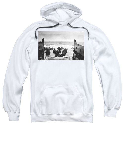 Storming The Beach On D-day  Sweatshirt