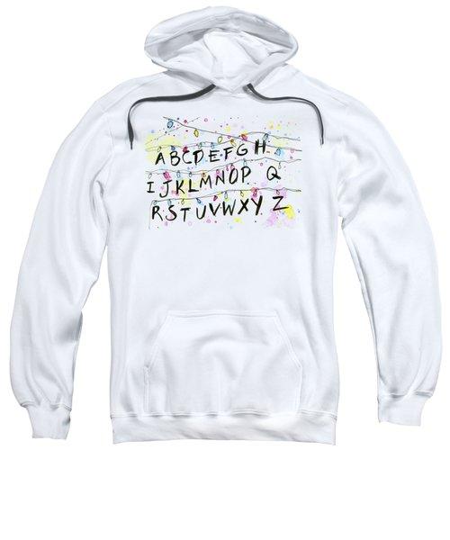 Stranger Things Alphabet Wall Christmas Lights Sweatshirt