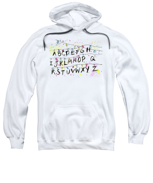 Stranger Things Alphabet Wall Christmas Lights Sweatshirt