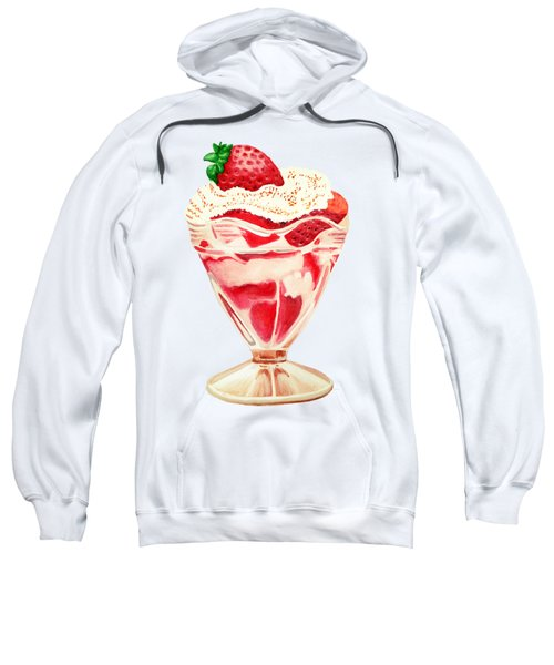 Strawberry And Cream Dessert Sweatshirt by Sonja Taljaard
