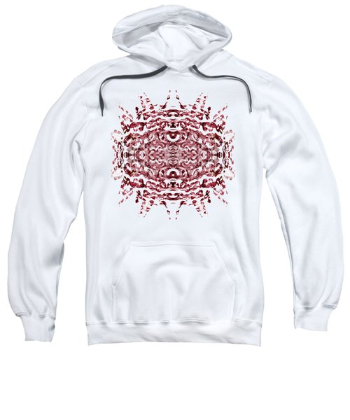 Strawberry Red Abstract Sweatshirt