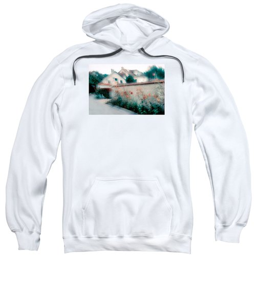 Sweatshirt featuring the photograph Street In Giverny, France by Dubi Roman