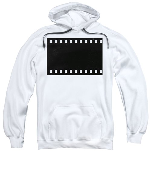 Strip Of Old Celluloid Film With Dust And Scratches Sweatshirt