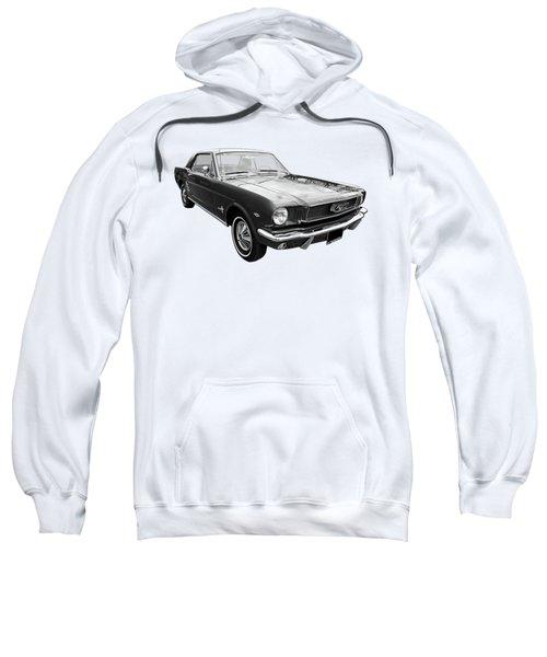 Stunning 1966 Mustang In Black And White Sweatshirt